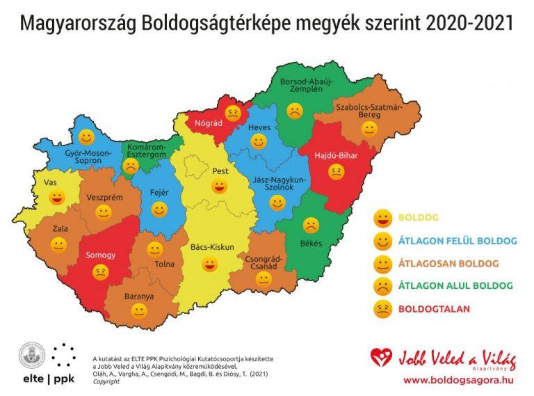 Elkészült Magyarország boldogságtérképe