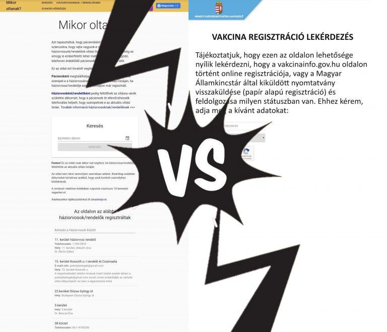 Mi a helyzet a Momentum vakcinainfós honlapjával?