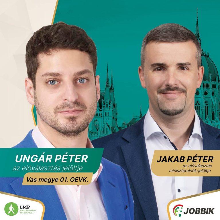 Jakab az LMP jelöltjét támogatja Vas megye első választókerületében