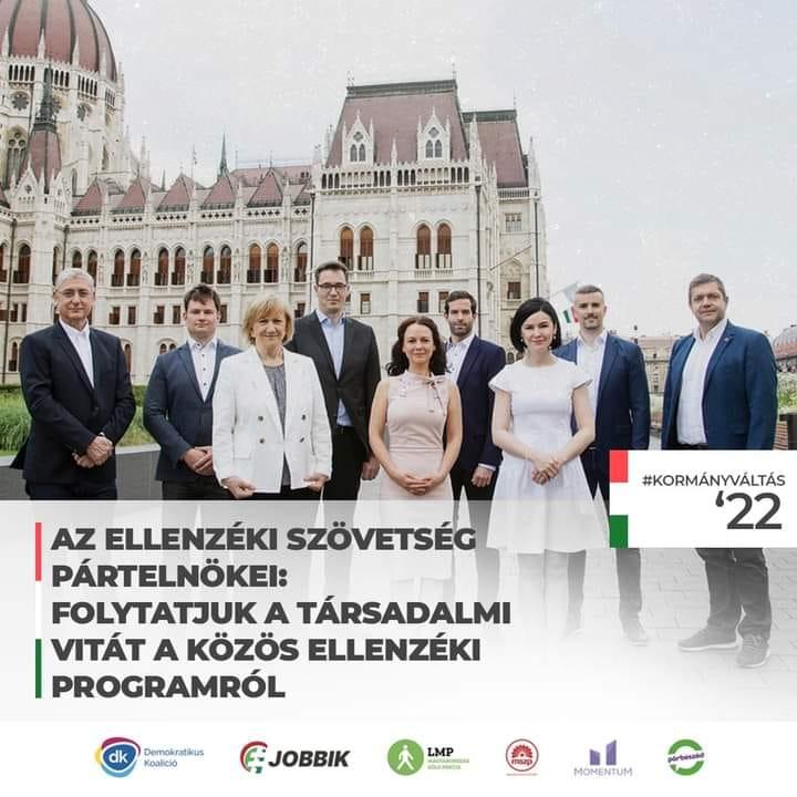 Az ellenzéki szövetség pártelnökei: folytatjuk a társadalmi vitát a közös ellenzéki programról