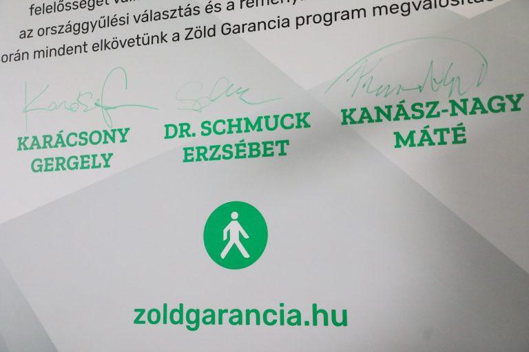 Karácsony is aláírta az LMP Zöld Garancia Programját