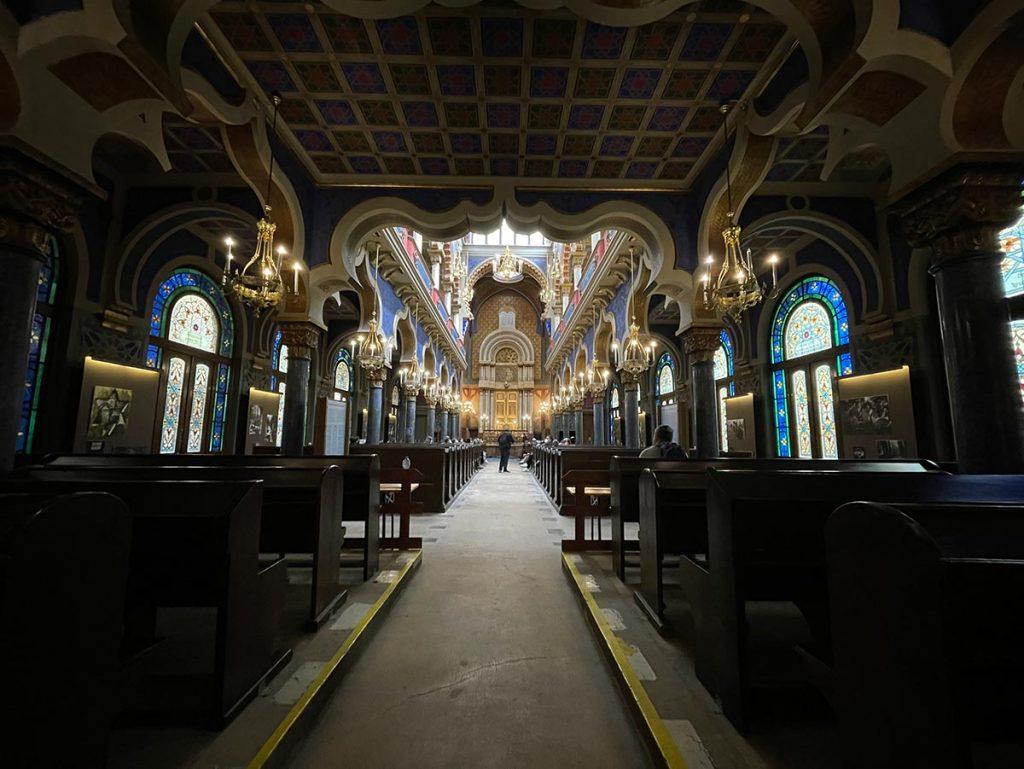 Az 1906-ban épült prágai Jeruzsálem zsinagóga