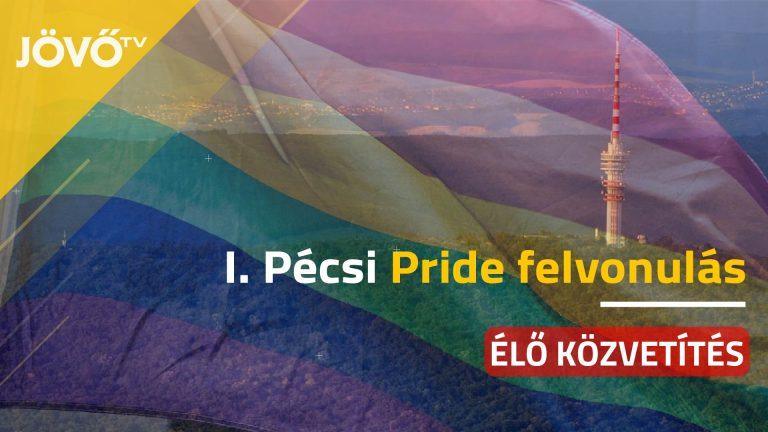 Élőben az első Pécs Pride felvonulásról