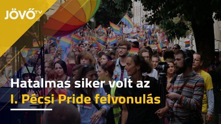 Hatalmas tömeg volt az első vidéki pride felvonuláson Pécsett